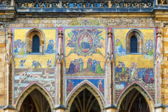 Mosaic in the St. Vitus Cathedral in Prague. Czech Republic Royalty Free Stock Photography