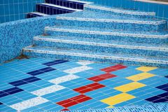 Mosaic stairs Stock Images