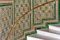 Mosaic Stairs. Colorful mosaic wall marble stairs royalty free stock photography