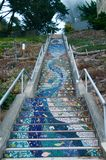Mosaic stairs Royalty Free Stock Image