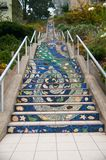 Mosaic stairs Royalty Free Stock Images