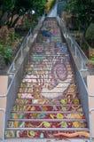 Mosaic stairs Stock Image