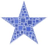 Mosaic of a Star Stock Photography