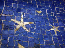 Mosaic with star Stock Image