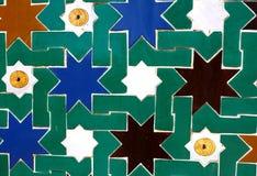 Mosaic star tiles in the old Moorish style. stock photos
