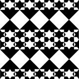 Mosaic with stars in black and white. Seamless wallpaper background with mosaic with stars in black and white Stock Photography