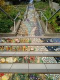 Mosaic steps, San Francisco Royalty Free Stock Photography