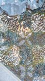 Mosaic stone design. This picture was taken at the Lan Su Chinese Gardens in Portland, Oregon. The intricate pattern is made from many small stones embedded in Royalty Free Stock Photos