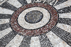 Mosaic stone floor Royalty Free Stock Images