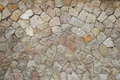 Mosaic stone wall background Royalty Free Stock Image