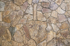 Mosaic stone wall background Stock Photography