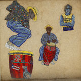 Mosaic street art by artist Manny Vega at East Harlem in New York Royalty Free Stock Photography