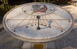 Mosaic Sundial in Aiello del Friuli. Italy Stock Image