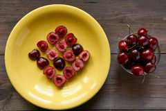 Mosaic from sweet cherry Stock Photography
