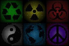 Mosaic symbols Stock Image