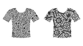 Mosaic T-Shirt Icons of Service Tools royalty free illustration
