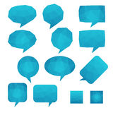 Mosaic Talk Balloons Royalty Free Stock Photos