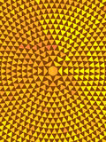Mosaic Tapastry Tile. Mosaic Tapestry Tile in yellow and brown colors vector illustration