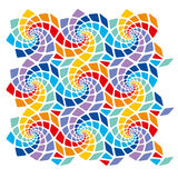 Mosaic template. With the possibility of duplication in all directions royalty free illustration