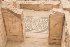 Mosaic in Terrace Houses, Ephesus Ancient City Royalty Free Stock Photos
