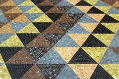 Mosaic tessellation texture on the floor. In an old palace Royalty Free Stock Photos