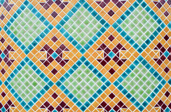 Mosaic texture. Green blue and orange mosaic texture and background Royalty Free Stock Photos