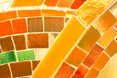 Mosaic texture. Interesting mosaic detail - decorative and colorful tiles. Background art Royalty Free Stock Image