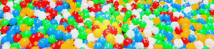 Mosaic texture background. Colorful plastic balls. Color abstraction Stock Photo