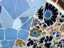Mosaic texture by Gaudi royalty free stock image
