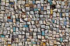 Mosaic Texture of little stone wall (close-up) Stock Image
