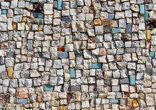 Mosaic Texture of little stone wall Royalty Free Stock Photo