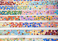 Mosaic Texture  Stairway Royalty Free Stock Images