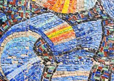 Mosaic texture on wall Stock Images