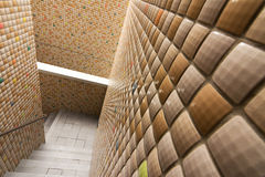 Mosaic texture wall with stairs Royalty Free Stock Photos
