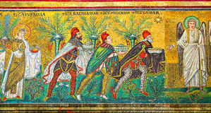 Mosaic with three Magi Stock Image