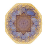 Mosaic tile. Abstract octagonal blue, burgundy and gold mosaic tile vector illustration