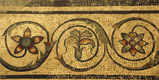 Mosaic tile  in ancient Romain villa Royalty Free Stock Images