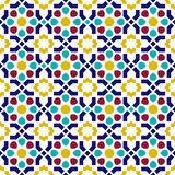 Mosaic tile arabic seamless pattern background Stock Photos