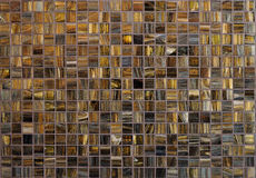 Mosaic tile background. Brown color Royalty Free Stock Image