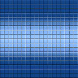 Mosaic Tile Background. Background design of blue tile and light and shadow for good depth Royalty Free Stock Photography