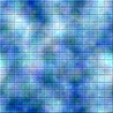 Mosaic Tile Background. Colorful background mosaic design of shiny tile boxes or cubes in blue, pink and green mottled tones. Can be tiled seamlessly Stock Image