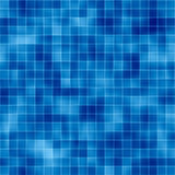 Mosaic Tile Background. Background mosaic design of shiny tile boxes or cubes in various blue mottled tones. Can be tiled seamlessly Royalty Free Stock Photography