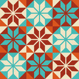 Mosaic tile colorful pattern in patchwork style Stock Photography