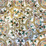 Mosaic tile, decoration, broken glass, Park Guell, Barcelona Royalty Free Stock Photography