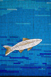 Mosaic tile fish Stock Images
