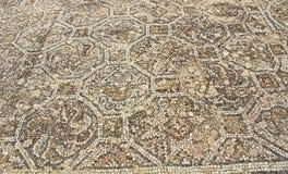 Mosaic Tile Floor Along the Curetes Road in Ephesus, Turkey stock photo