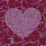 Mosaic tile heart Stock Image