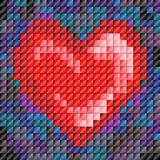 Mosaic tile heart. Metallic sheen mosaic tiles in heartshape, Valentine's day or love Stock Image