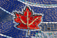 Mosaic tile maple leaf pattern stock photos