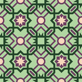 Mosaic tile pattern with abstract green design Stock Image